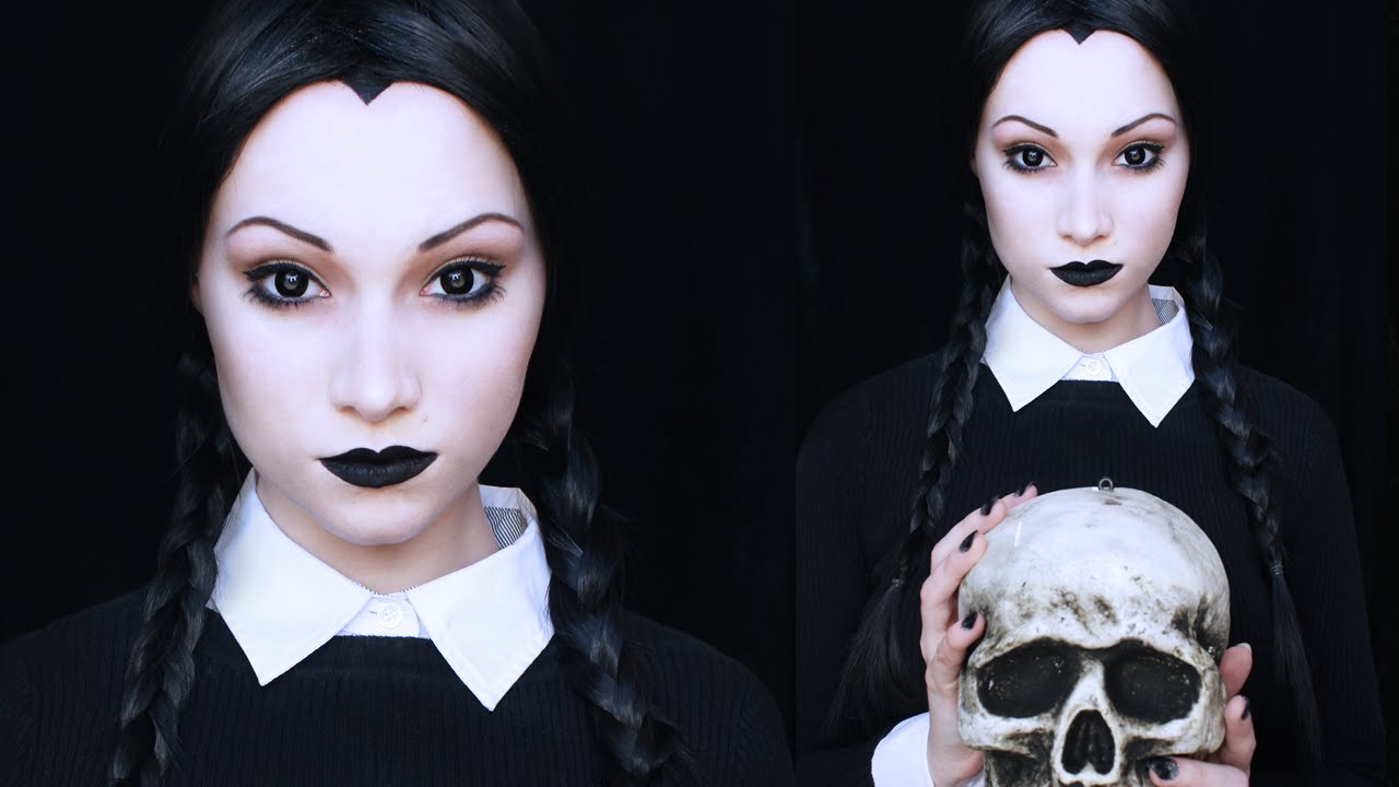 wednesday addams makeup tutorial youtube. Black Bedroom Furniture Sets. Home Design Ideas