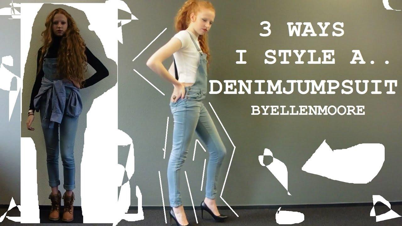 3 Ways I Style A Denim Jumpsuit Byellenmoore Youtube