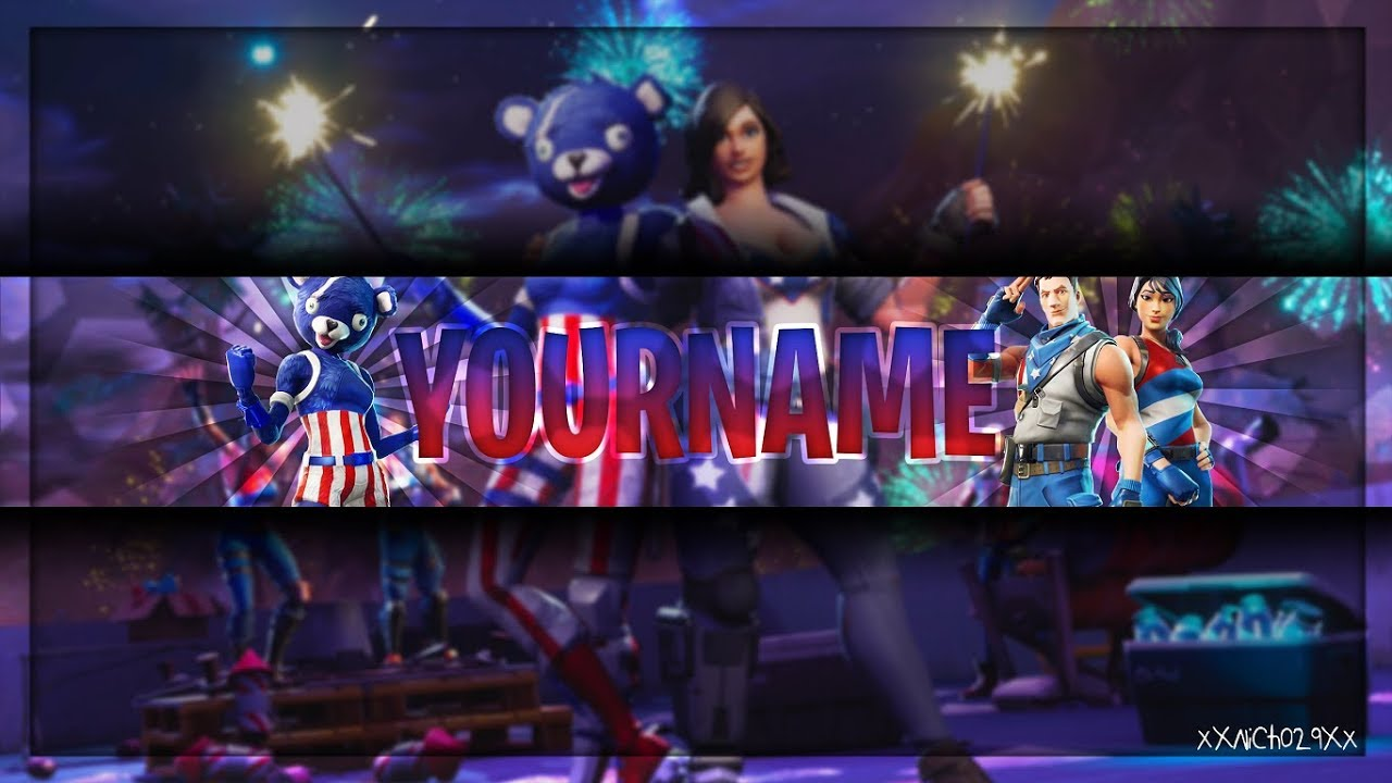 2048 By 1148 Pixels Fortnite Banners: Fireworks Team Leader Channel
