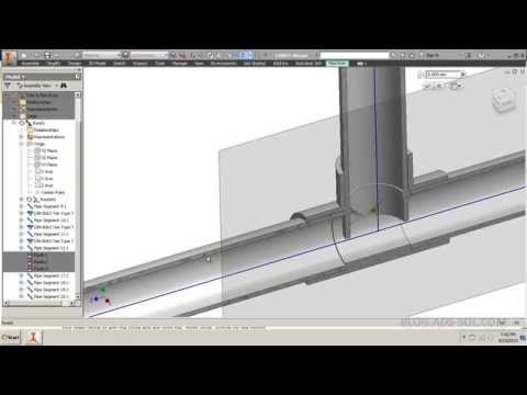 Autodesk Inventor Tube and Pipe: Branches