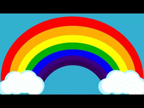 Rainbow Colors For Kids Video - Red, Orange, Yellow, Green, Blue, Indigo, And Violet.