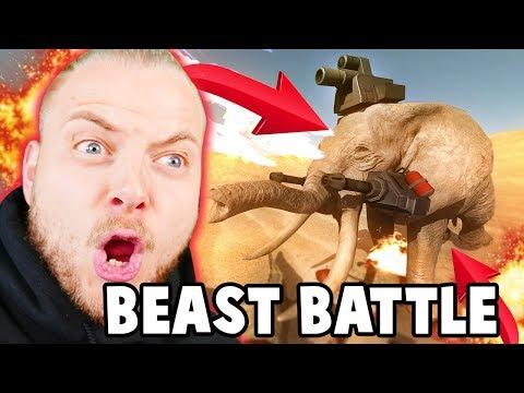 THE MOST CRAZIEST SIMULATOR GAME!! - Beast Battle Simulator #1