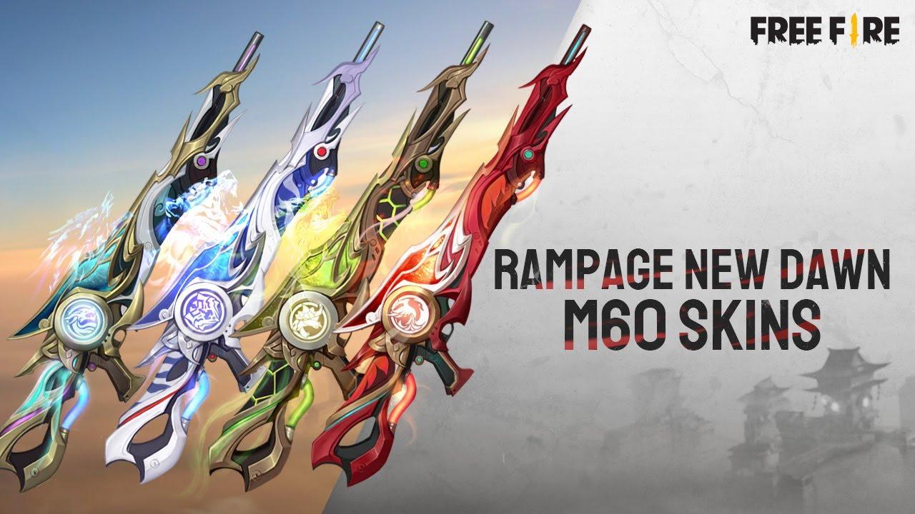 Rampage New Dawn - Mythos M60 Gun Skins | Garena Free Fire