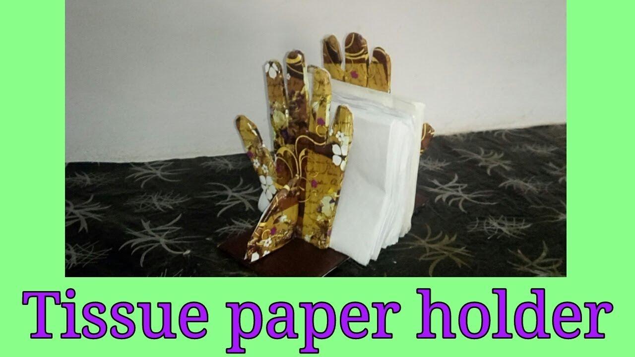 Diy Tissue Paper Holder Paper Napkin Stand Youtube
