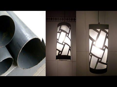 Peluang Bisnis dan Cara Membuat Lampu Hias Gantung Paralon Pipa PVC || DIY Decorative Lamps from PVC