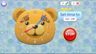 Обучающий мультик игра для детей Который час Учим понимать часы Gameplay for Kids