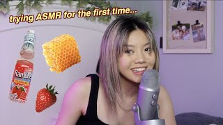 trying ASMR for the first time...  | bailey sok
