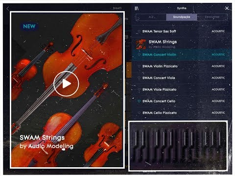 Roli NOISE - The SWAM STRINGS Pack - Demo for the iPad
