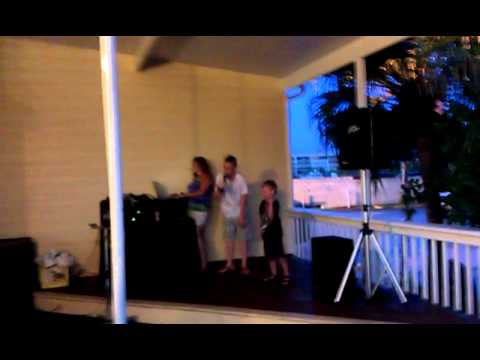 Tyler and Bryson bar karaoke