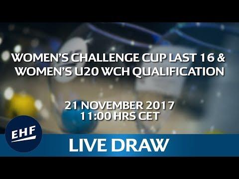Live draw: Women's Challenge Cup Last 16 & Women's U20 World Championship Qualification