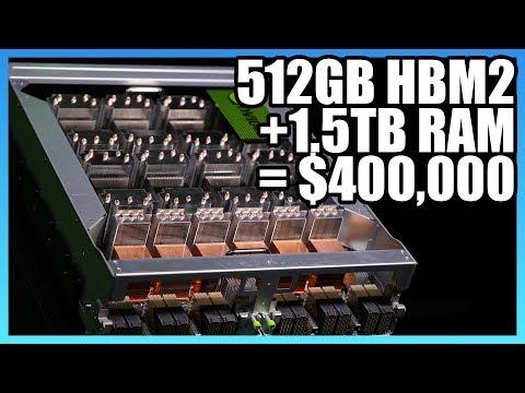 "NVidia's $400,000 ""Graphics Card"" - 16 GPUs, 1.5TB RAM DGX-2"