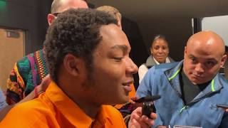 Tennessee S Nigel Warrior speaks to the media 11-19-19