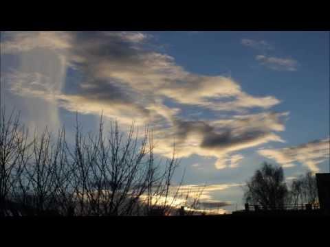 The sky above Frogner in Oslo