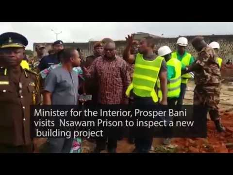 Interior Minister inspects prison facilities at Nsawam