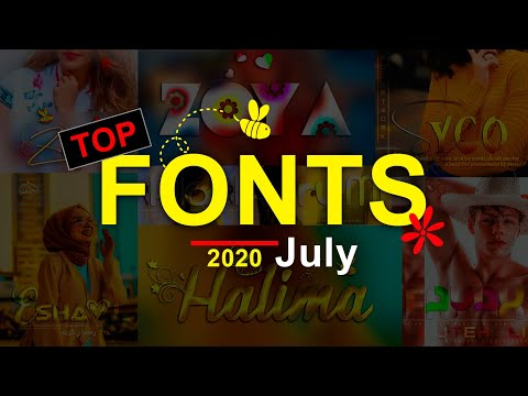 July 2020 TOP New Fonts For Dp Editing || How To Add Font Pixlab & Picsart , Photohope New Fonts