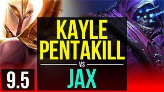 KAYLE vs JAX (TOP) | Pentakill, Quadrakill | EUW Challenger | v9.5