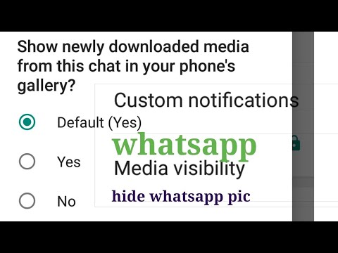 Whatsapp Media visibility || how to use whatsapp Media visibility