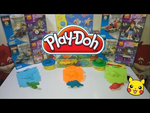 Play-Doh Dinosaurs Journey | T-Rex, Triceratops, Ankylosaurus | Education Toys | Assemble Unboxing