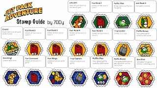 Jet Pack Adventure Stamp Guide - All Easy, 1up and Fuel Can Stamps - Club Penguin Rewritten