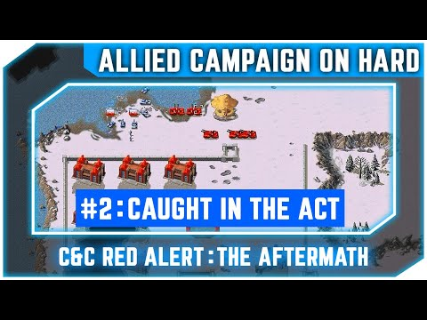 C&C Red Alert The Aftermath - Allied Campaign - Caught In The Act [Hard] 720p