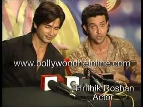 Shahid Kapoor With Hrithik Roshan On The Set Of Just Dance