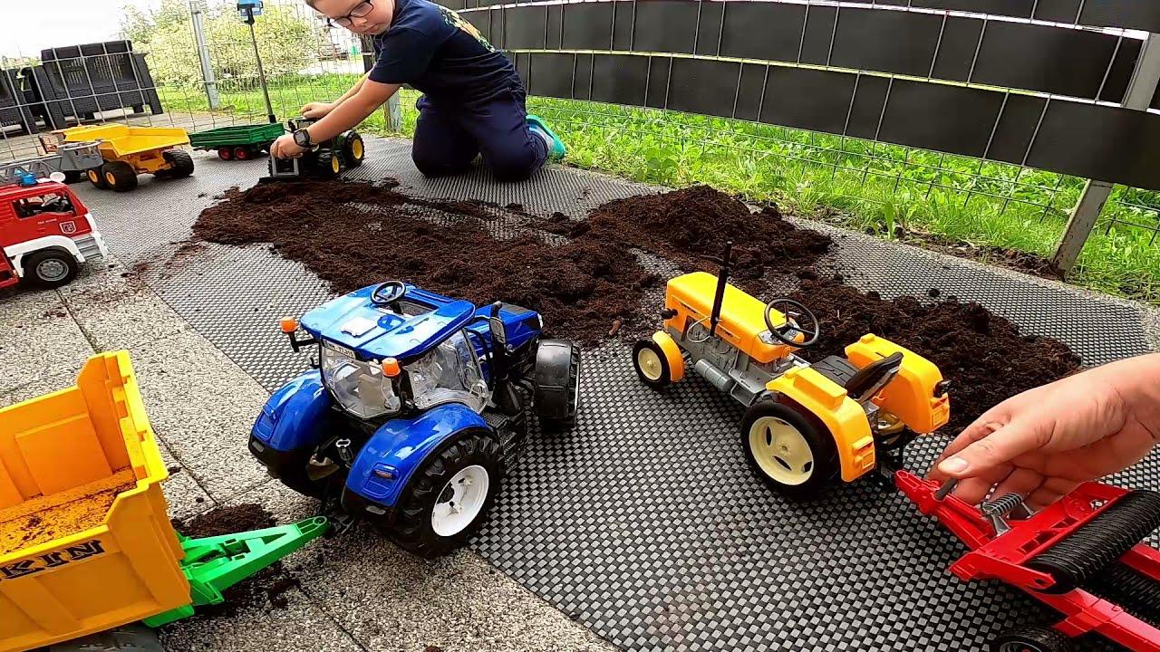 Download Bruder, Ursus Ziemia ogrodowa, test C 360, Volvo i innych maszyn, przyczepy, pług, kultywator ogień