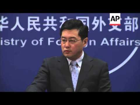 Spokesman says China opposes Russia sanctions; anger at US senators' meeting with Dalai Lama