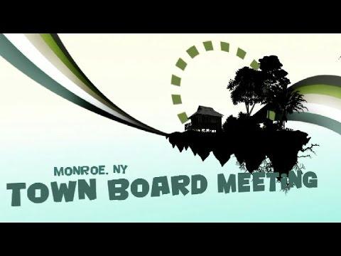 Monroe Town Board Meeting August 10, 2015