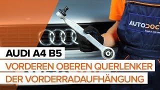 Wie AUDI A4 B5 vorne Querlenker wechseln TUTORIAL | AUTODOC