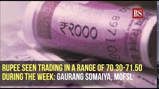 Rupee seen trading in a range of 70.30-71.50 during the week: Motilal Oswal