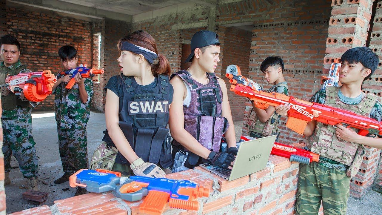 LTT Nerf War : SEAL X Warriors Nerf Guns Fight Attack Criminal Group Bandits Carman