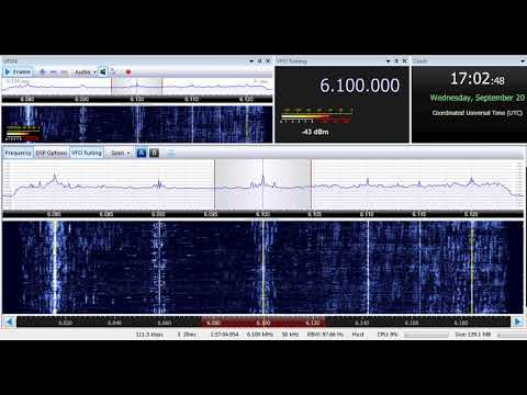 20 09 2017 Radio Afghanistan External Service in Russian to SoAs 1702 on 6100 Kabul