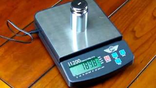 Calibration of My Weigh i1200 digital scale