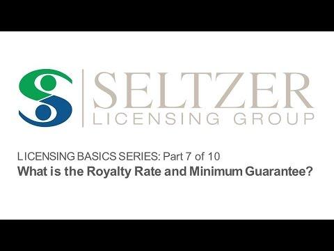 Licensing Basics: The Royalty Rate and Minimum Guarantee [Part 7/10]