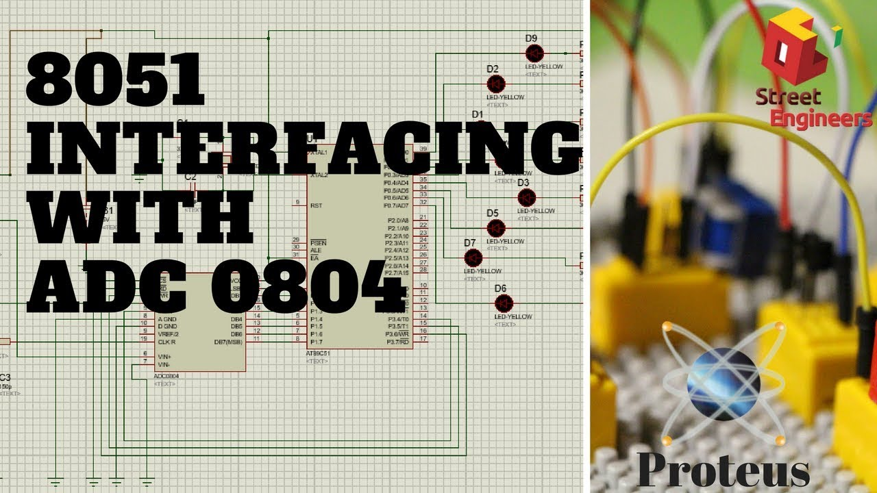 8051 Micro Controller Interfacing With Adc 0804 Youtube To