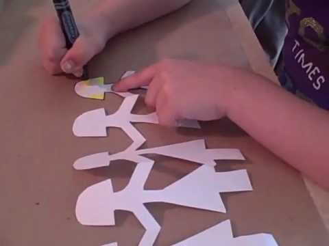 How to Make a Paper Doll Chain - YouTube