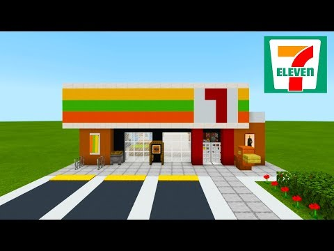 Minecraft Tutorial: How To Make A 7-Eleven Convenience Store