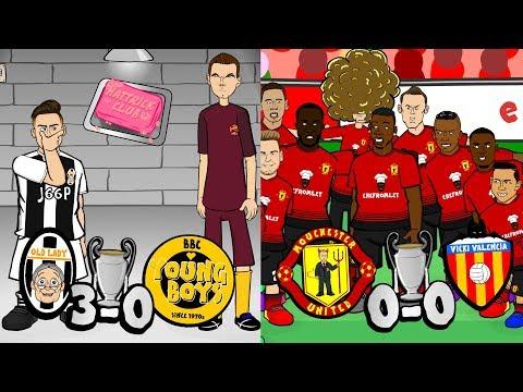 🏆Dybala Hat-Trick! Man Utd huddle sabotage!🏆 (Champions League Parody 2018)