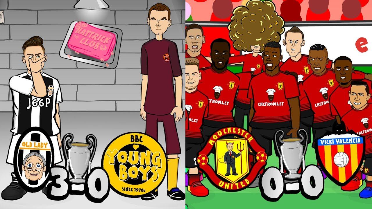 dybala-hat-trick-man-utd-huddle-sabotage-champions-league-parody-2018