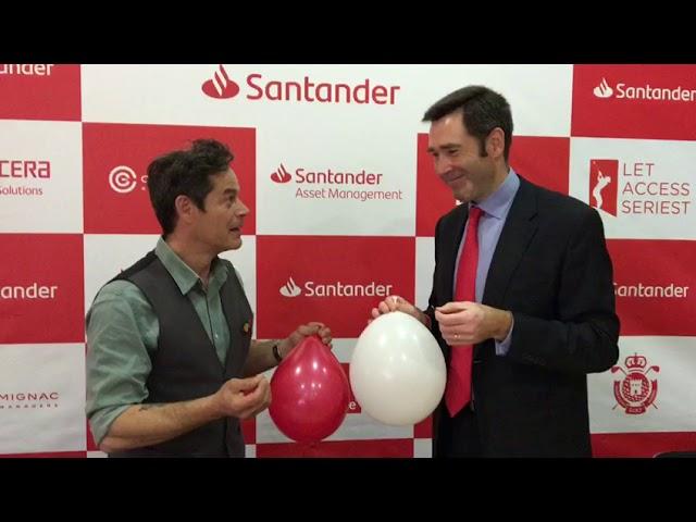 Jorge Sanz y Felipe Martín #inflaunglobo por la Fibrosis Quística - Santander Golf Tour 2019