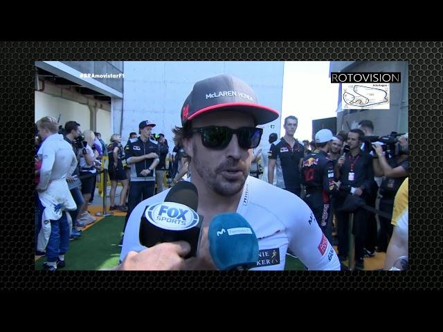 Fernando Alonso - Declaraciones Postcarrera | Brasil 2017