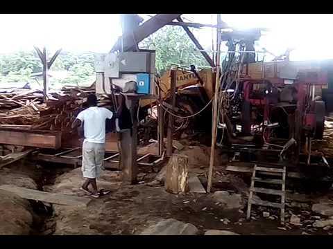 Sawmill work in Guyana) Rohit sawmill in Pearl