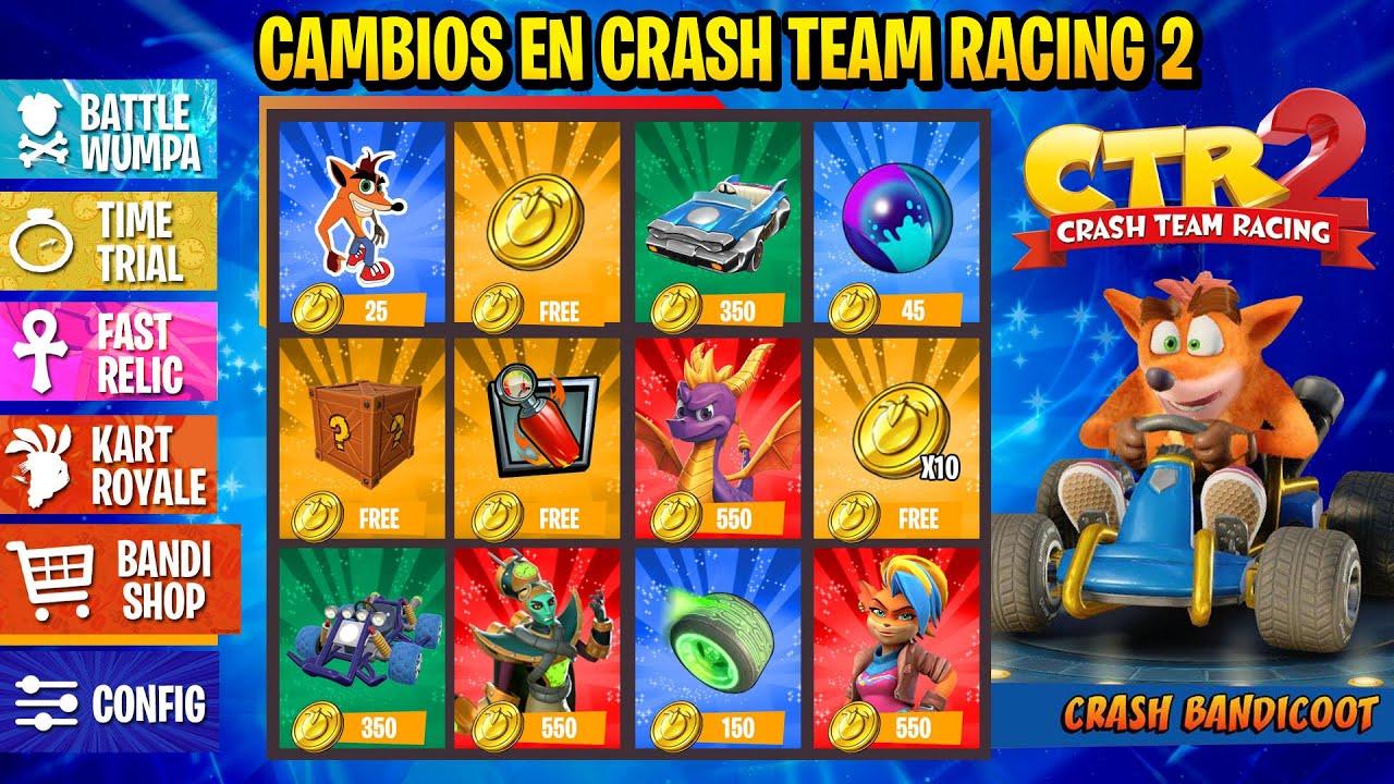 EL FUTURO DE CRASH TEAM RACING 2 [CAMBIOS]