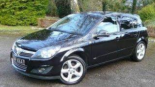 Black Vauxhall Astra SRi 1 8