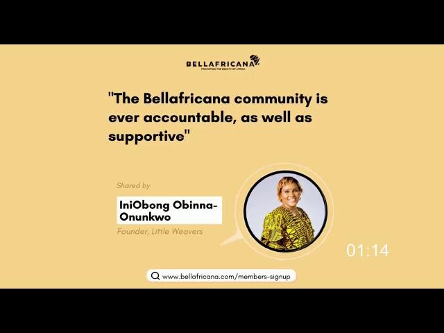 Bellafricana Testimonial: Iniobong Obinna-Onunkwo