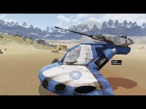 EPIC ARMA - Halo Tanks VS Star Wars Tanks