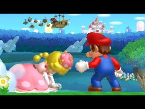 New Super Mario Bros U Deluxe Co-Op Walkthrough - World 1 (2 Player)
