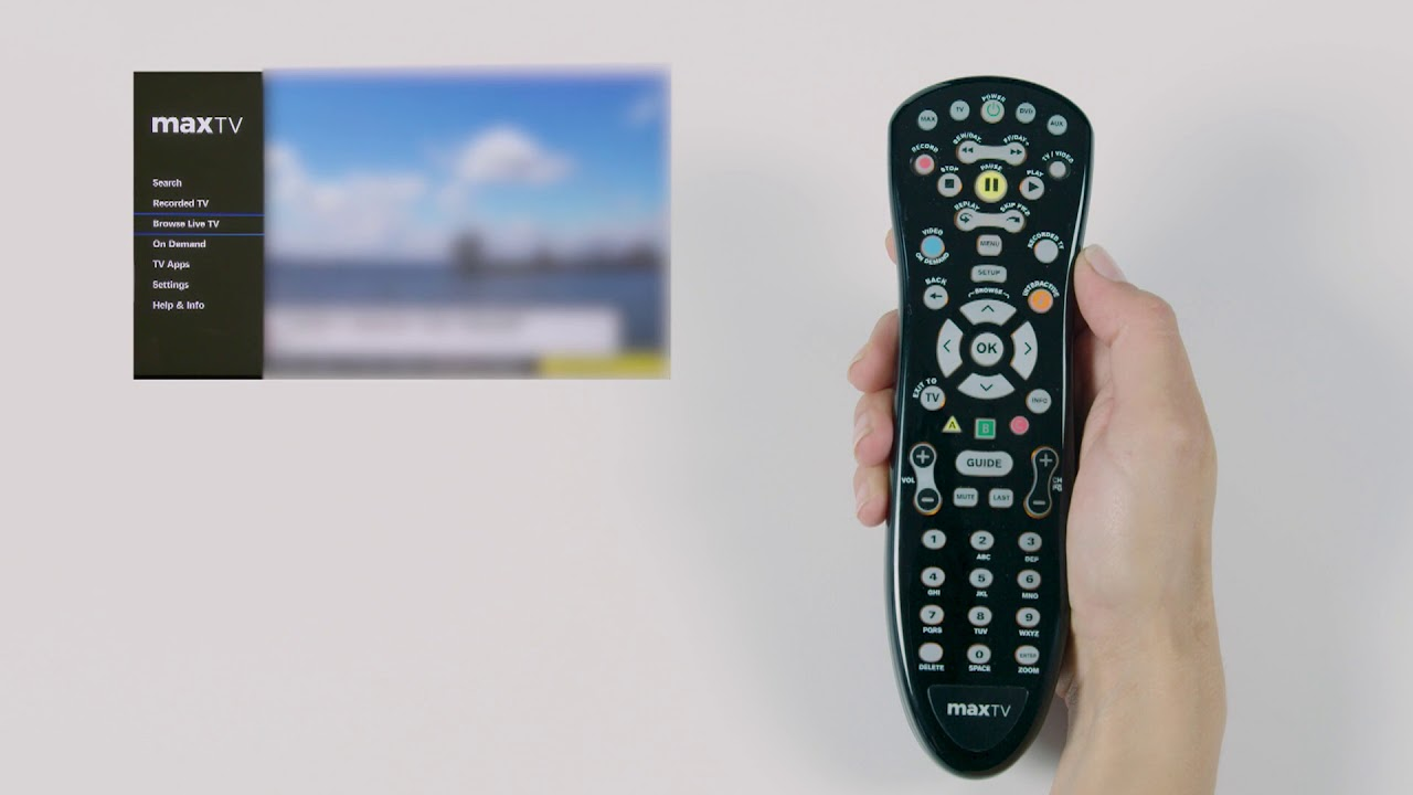 SaskTel Max TV Remote Control: Extended Version