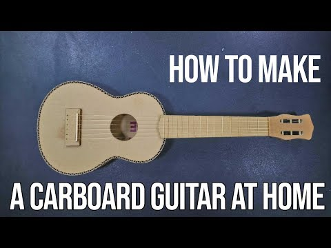 DIY - How to make a carboard guitar at home - HDV crafts