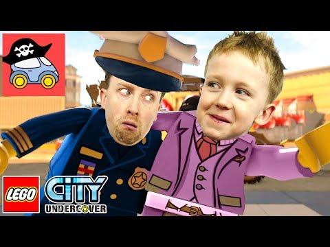 🚓 Lego City Undercover #17 ПАРКУР ПО КРЫШАМ в Лего Сити Прохождение игры Жестянка Для детей